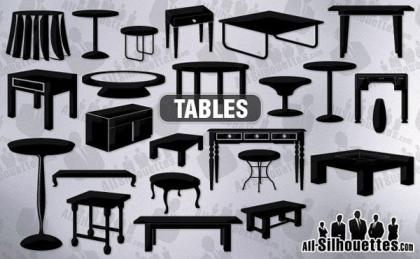 Free Vector Furniture Silhouettes