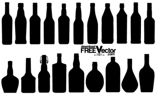 Free Vector Bottle Silhouettes
