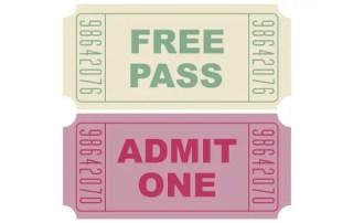 Free Vector Movie Tickets