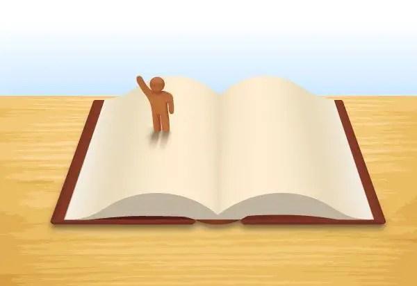 Open Book Free Vector Image