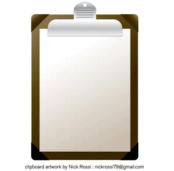 Clipboard Vector Illustration Free