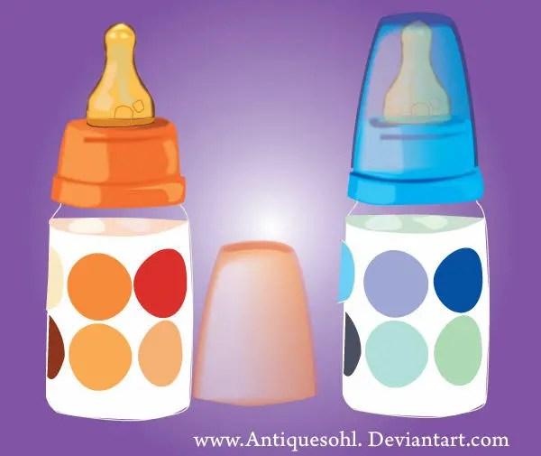 Baby Milk Feeding Bottle Vector Free