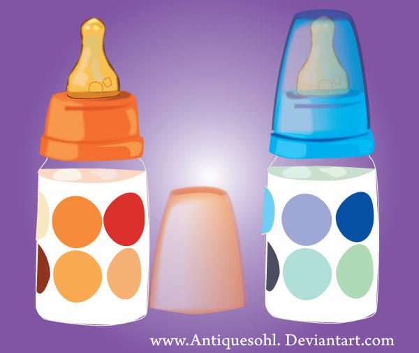Baby Milk Feeding Bottle Vector Free