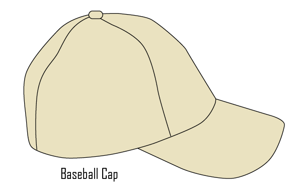 baseball cap template vector free