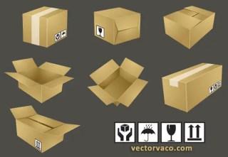 Free Shipping Box Vector Illustration