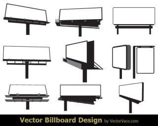 Free Blank Advertising Billboard Vector Art