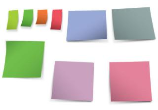 Blank Post-it Notes Free Vector