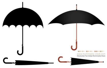 Free Umbrella Vector Set