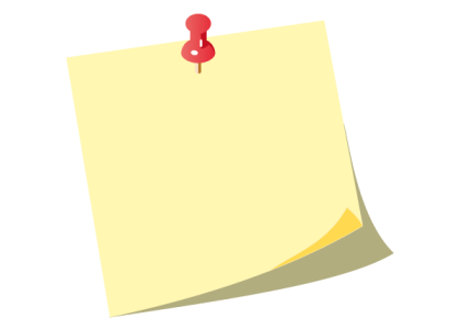 Free Vector Yellow Post-it Notes with Push Pin