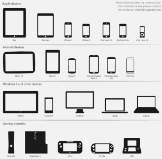 Free Technology Vector Icons – Devices and Consoles