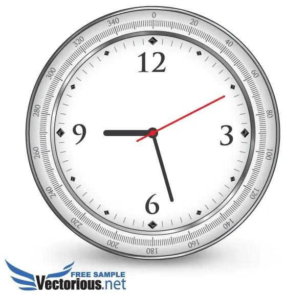 Free Office Clock Vector Illustration