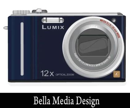 Lumix Camera Vector Art