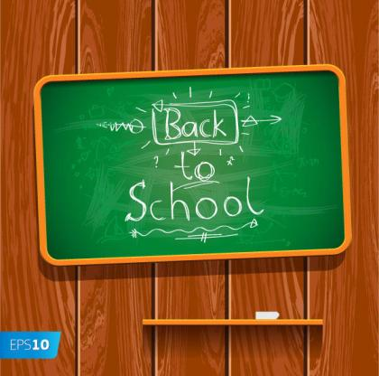 Back to School Written on Chalkboard Vector Illustration