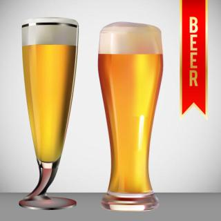 Beer Glass Vector Art Free