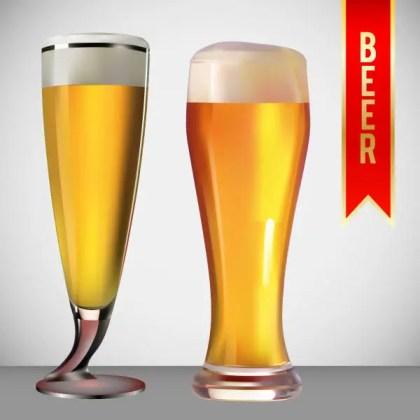 Beer Glass Vector Art Free