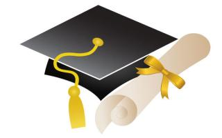 Free Graduation Cap and Diploma Vector Art