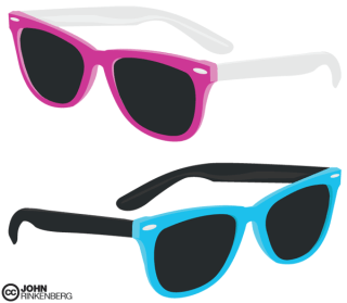 Free Vector Ray Ban Glasses