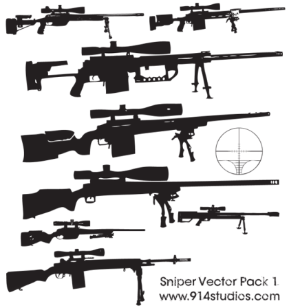 Gun Vector Sniper Rifle Free Pack