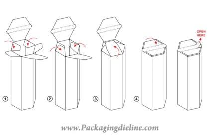 Free Packaging Dieline Template Vector