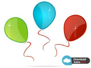 Free Vector Icon Colorful Balloons
