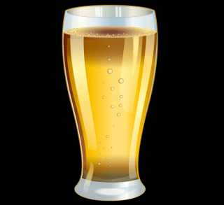 Glass of Beer Vector Graphics