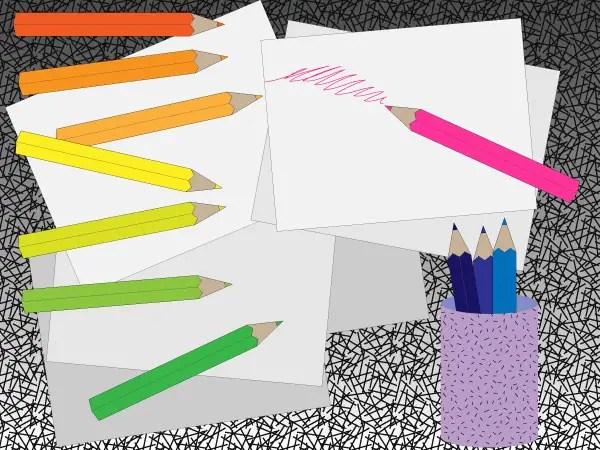 Free Colored Pencil Vector Art