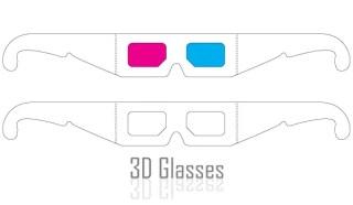 3D Glasses Vector Art Free