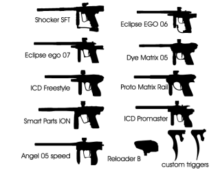 Paintball Marker Vector Silhouettes