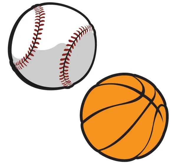 Free Vector Basketball and Baseball
