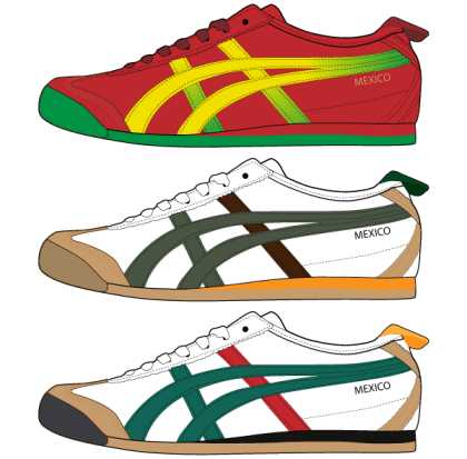 Asics Shoes Free Vector