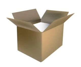 Open Cardboard Box Vector Free