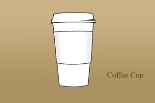 Paper Coffee Cup Vector AI