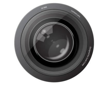 Free Camera Lens Vector Image
