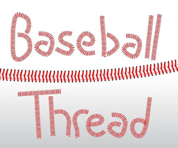 Baseball Threads Vector Illustrator Brushes
