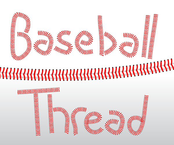 Baseball Threads Vector Illustrator Brushes