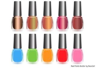 Nail Polish Bottle Vector