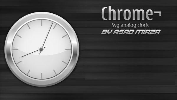 Chrome Svg Analog Clock Vector Free