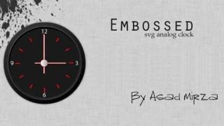 Embossed Svg Analog Clock Vector Free