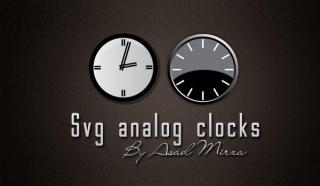 Svg Analog Clocks Free Vector