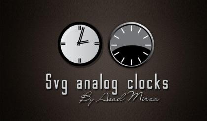 Svg Analog Clocks Free Vector