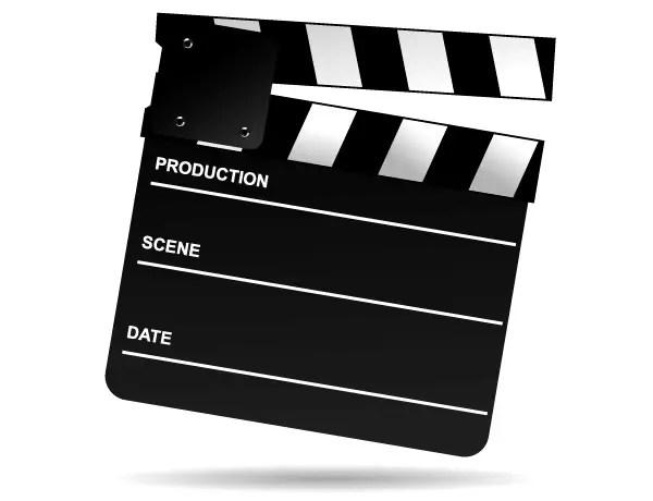 Free Movie Clapper Board Clip Art