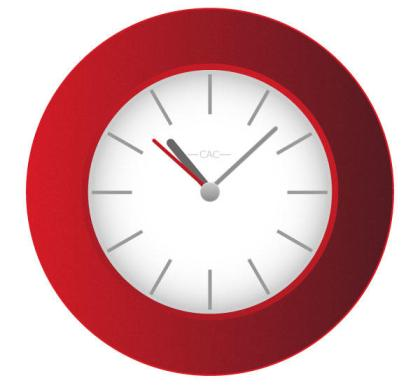 Free Red Wall Clock Vector Image