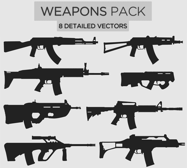 Free Weapons Illustrator Pack-1