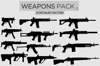 Weapons Vector Pack Free-2