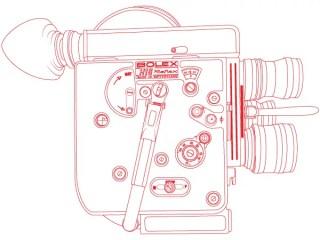 Bolex H16 Reflex Camera Vector Outline