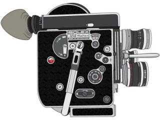 Bolex H16 Reflex Camera Vector Graphics