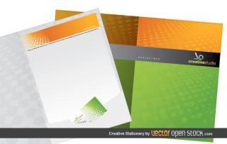 Stationery Design Template Vector