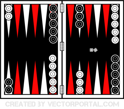 Backgammon Board Vector Art