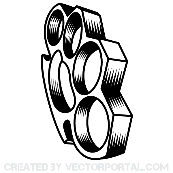 Brass Knuckles Weapon Vector