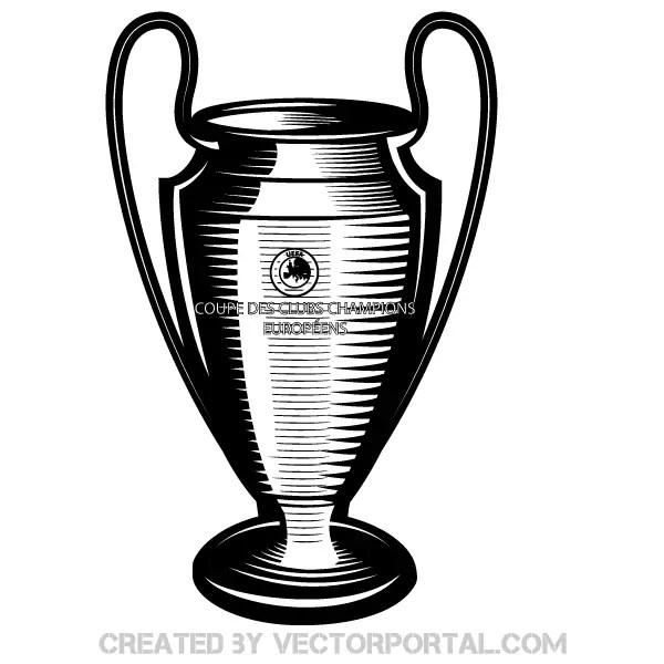 Champions League Cup Vector Art